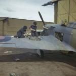 Hawker Hurricane aircraft at the Fleet Air Arm airfield at Yeovilton