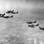 Hurricane fighters in flight Middlesex 1938