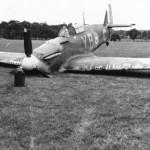Hurricane of No 17 Squadron YB-C crash landed during Battle of Britain