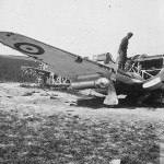 Hurricane wreckage with drop tanks France