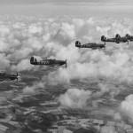 Hurricanes IIB of No 601 Squadron B Flight 1941