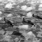 Hurricanes Mk IIB of No 601 Squadron B flight on patrol 1941