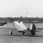 Hurricanes of No 17 Squadron on the ground at Debden July 1940