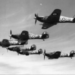 Hurricanes of No 3 Squadron in flight during World War II
