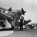 Mechanics Tuning Up Hurricane Fighters at RAF Northolt 1938