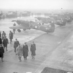 No 85 Squadron in France 1940 during the visit by King George VI