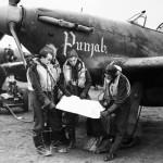 Pilots and Hurricanes of No 56 Punjab Squadron at Duxford 2 January 1942