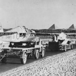 Repair and Salvage Hurricanes heading towards Gizeh Pyramids 1942