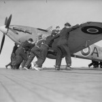 Sea Hurricane AF953 on the flight deck of HMS Avenger June 1942