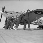 Sea Hurricane AF953 on the flight deck of HMS Avenger June 1942