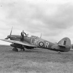 Sergeant B Bawden and Hurricane Mk IIC LK-R HL865 Night Duty of No 87 Squadron at Charmy Down 2 September 1942