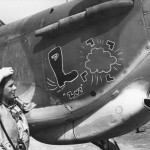 Sqn Ldr Billy Drake and Hurricane Mk II B of No 128 Squadron in West Africa 1941