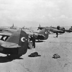 Turkish Hurricanes at Airfield in Middle East