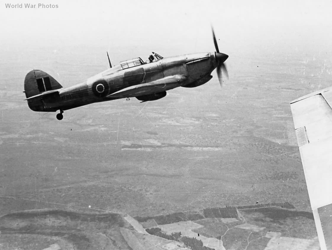 Hurricane AF993 Rhodesian Air Training Group