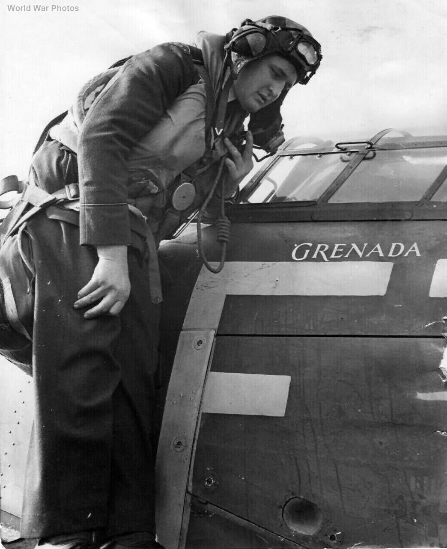 Hurricane American Pilot 43 sqn