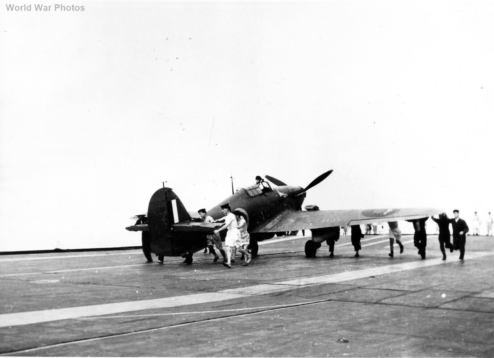 Hurricane aboard HMS Furiou