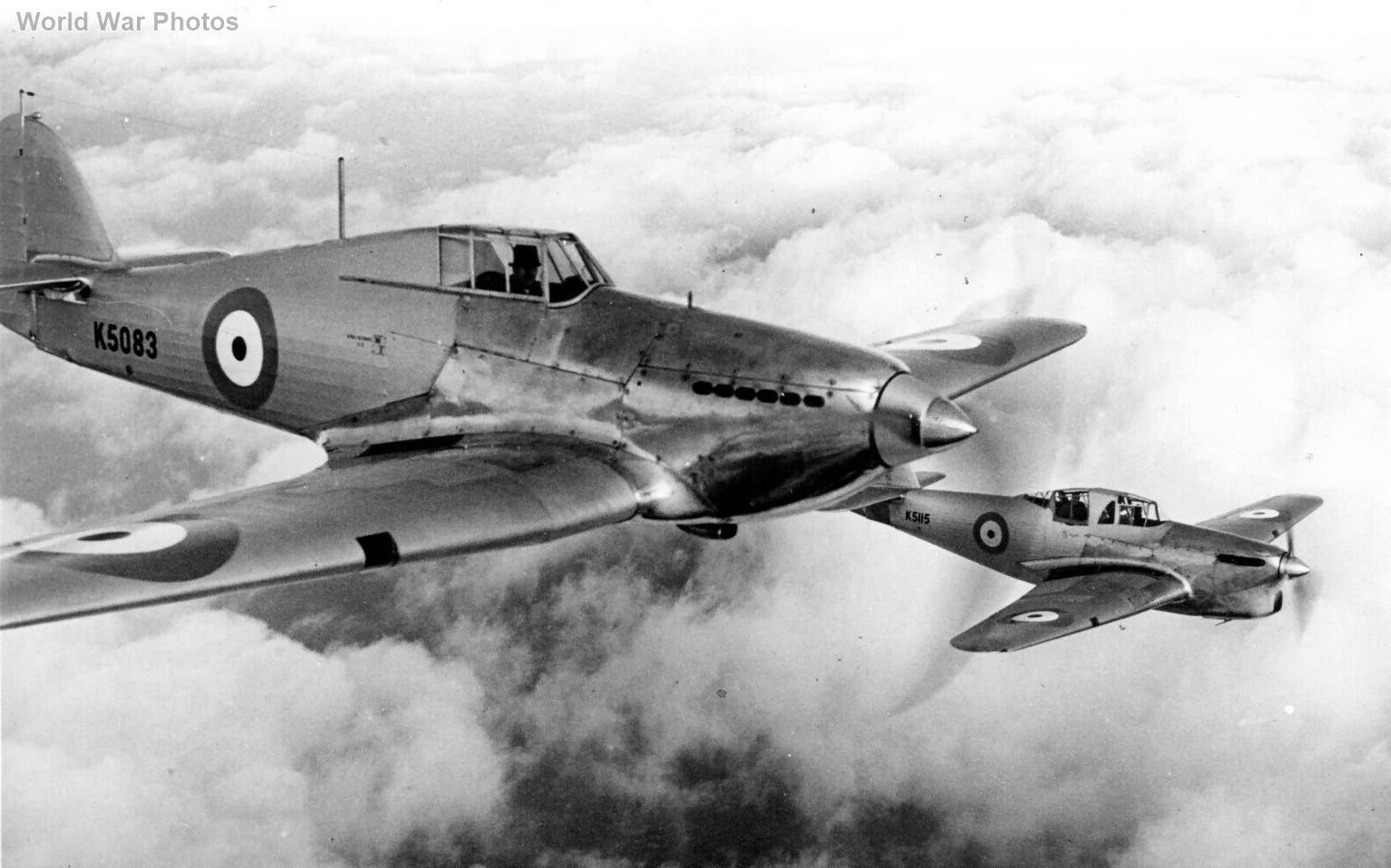 Hawker Hurricane K5083 and Henley