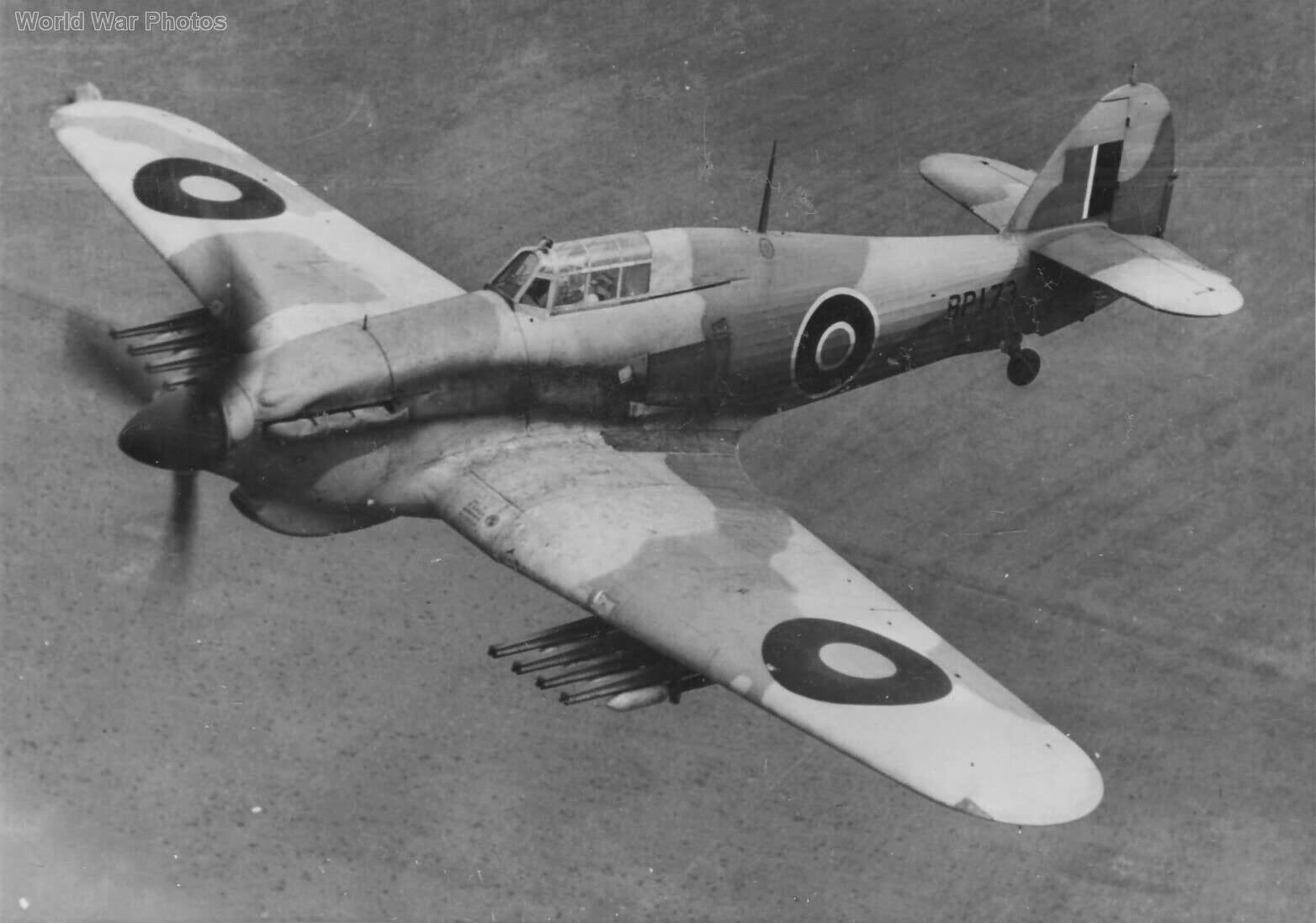 Hawker Hurricane Mk IV with rocket rails