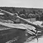Crashed Avro Lancaster