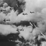 Formation of Lancasters 35 Sqn 46