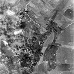 Lancaster bomber over target