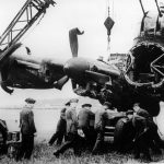 Crashed Lancaster R5845