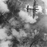 Lancaster over Trossy St Maximin 1944