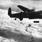 Lancaster NG126 dropping bombs