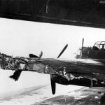 Damaged wing of Lancaster PD217