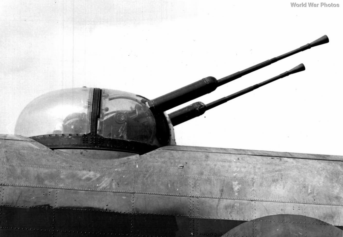 Bristol B.17 mid-upper turret with twin 20 mm Hispano cannon