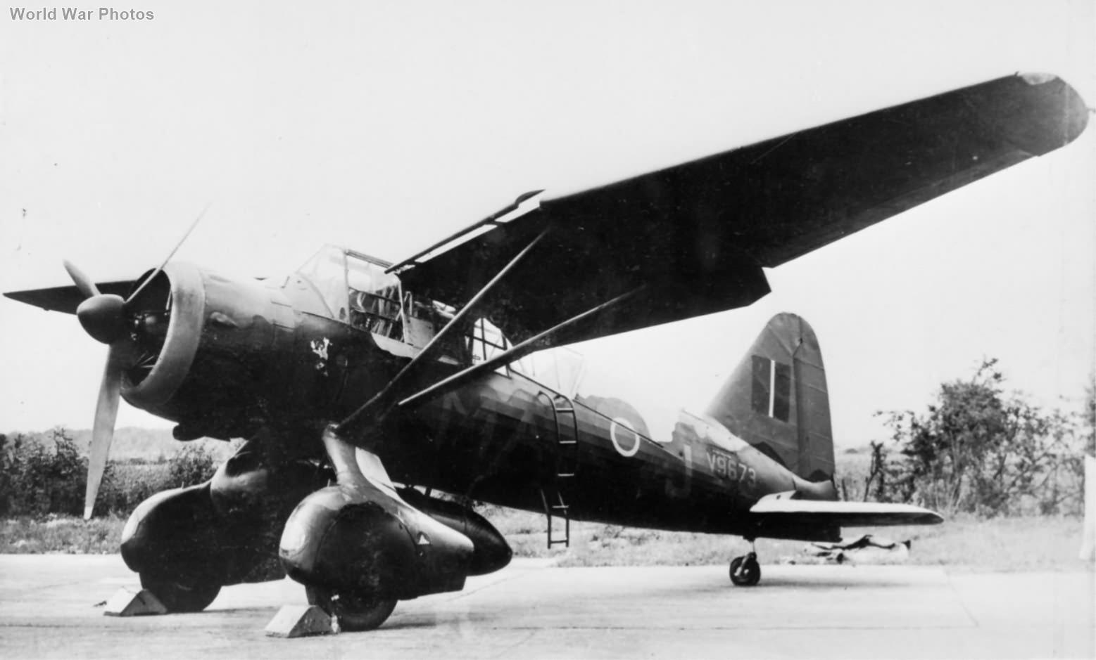 Lysander Mk IIIA V9673 MA-J of No. 161 Squadron RAF