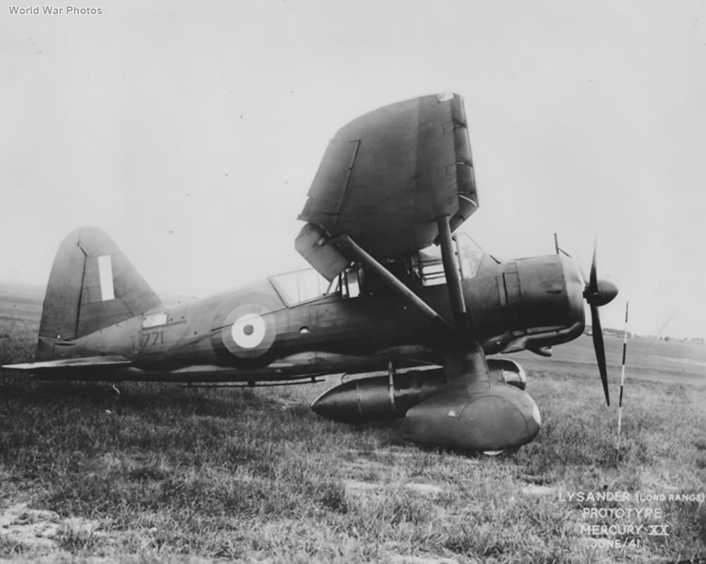 Lysander long range Prototype T1771 June 1941