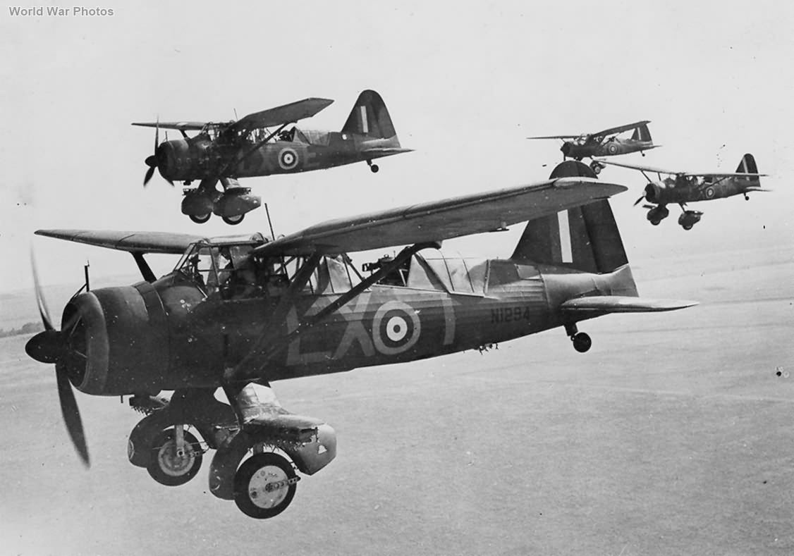 Lysanders on Training Flight N1294
