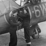 Wren Radio Mechanics Testing Radio on Lysander