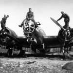 German soldiers poses atop a Martin 167A-3 – 1940
