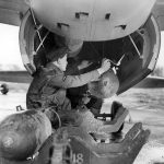 RAF ground crew loading bombs onto a Mosquito FB VI 2