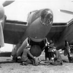 Cookie bomb being loaded into a Mosquito Mk B XVI