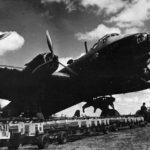 No. 218 (Gold Coast) Squadron RAF Stirling bombing up at Downham Market 1942
