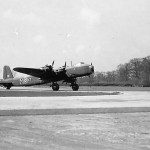 Short Stirling Bomber code XT-M of No. 1657 Heavy Conversion Unit RAF