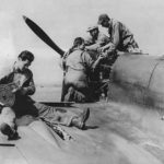 31st FG 309th FS mechanics maintain Spitfire WZ-W serial BM857, August 1942