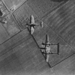 American Supermarine Spitfire and P-38 in flight