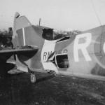Battle Damage to an RAF Supermarine Spitfire