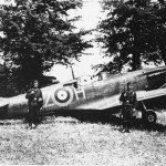 Captured Spitfire flown by Richard Hardy of 234 Squadron N3277 code AZ-H Cherbourg