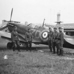 Captured Spitfire of No. 222 Squadron RAF