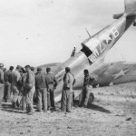 Crashed Spitfire code WZ-B 31st Fighter Group 309th Fighter Squadron Algeria Africa 1943