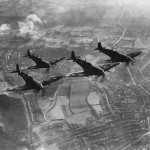Formation of the new British Spitfire fighters 1942