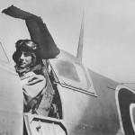 French Army Pilot Flies British Spitfire in North Africa