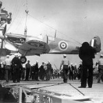 PO Jerry Smith RCAF Lands Spitfire On USS Wasp CV-7 Off Of Malta