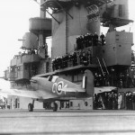 PO Jerry Smith RCAF Lands Spitfire On USS Wasp Off Of Malta