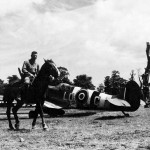 Spitfire IXB of RAF 602 Squadron Longues sur Mer airfield B-11 France August 1944